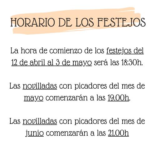 Horario festejos Sevilla